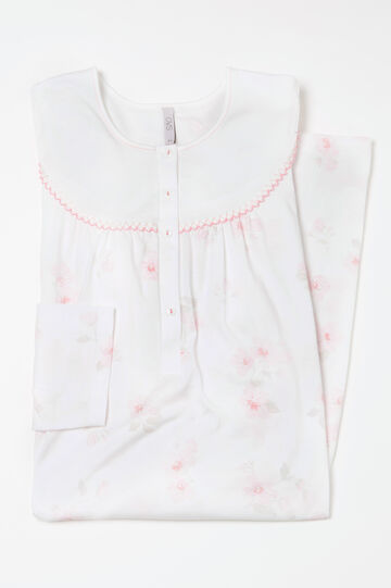 Curvy floral cotton nightshirt