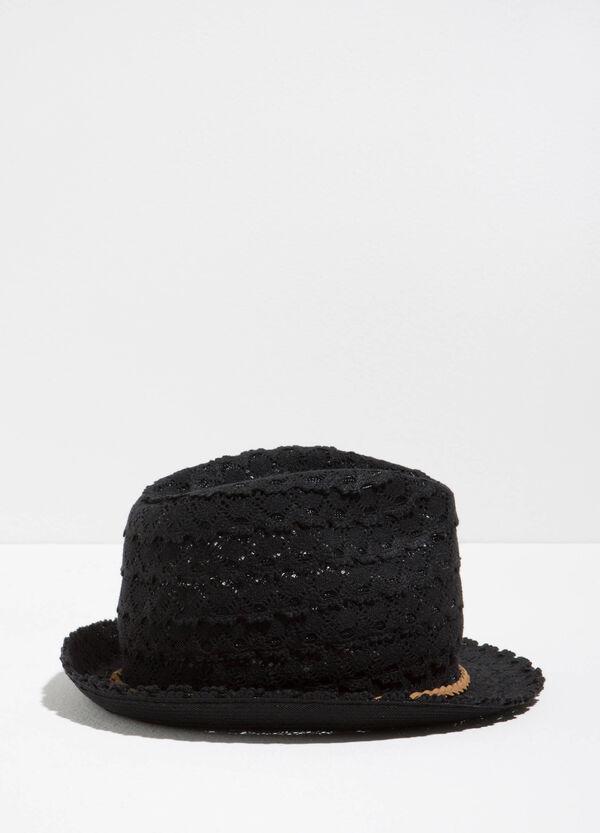 Cotton lace hat with wide brim | OVS