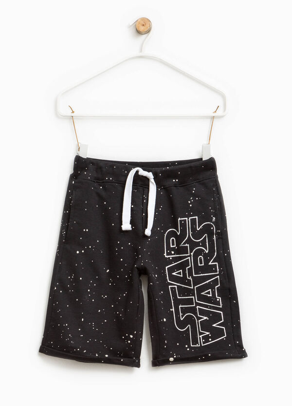 Patterned Bermuda shorts with Star Wars print   OVS
