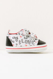Shoes with Velcro fastening and print, Multicolour, hi-res