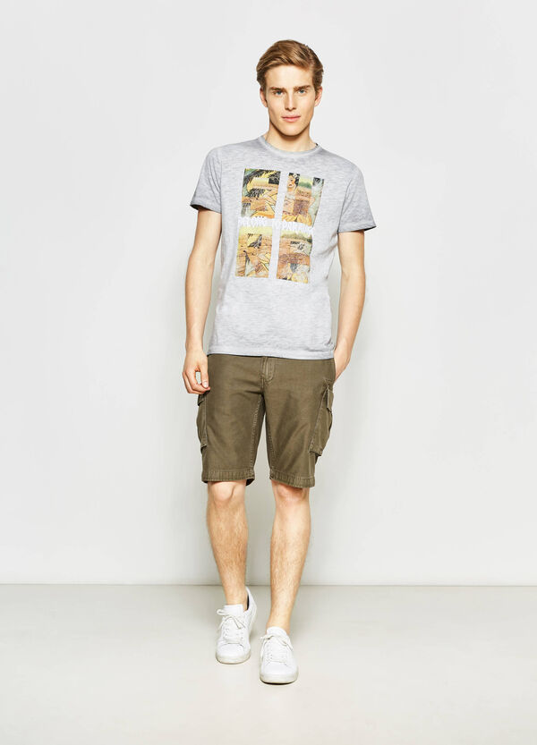 G&H printed cotton T-shirt with round neck | OVS