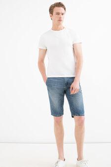 Bermuda di jeans slim fit used, Denim, hi-res