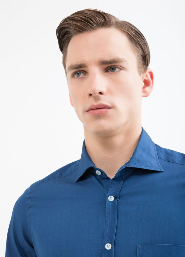 Rumford solid colour cotton shirt | OVS