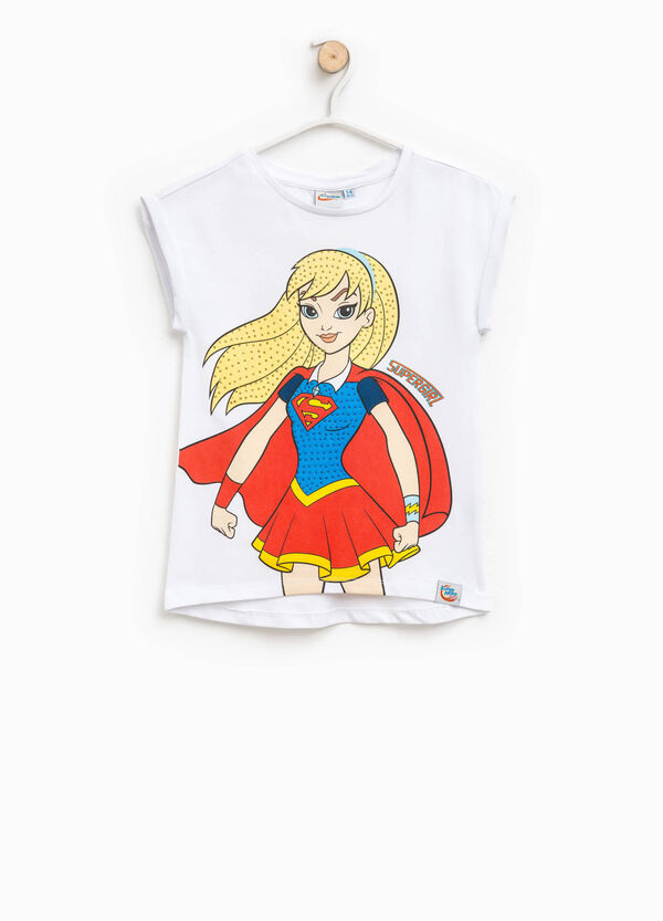 T-shirt in cotone stampa Supergirl | OVS