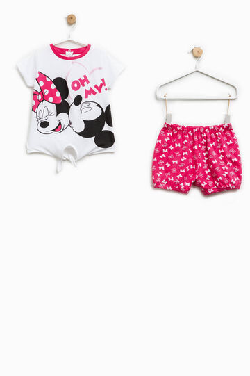 Cotton Minnie Mouse pattern pyjamas