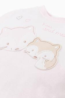 Animal onesie with feet, Pink, hi-res