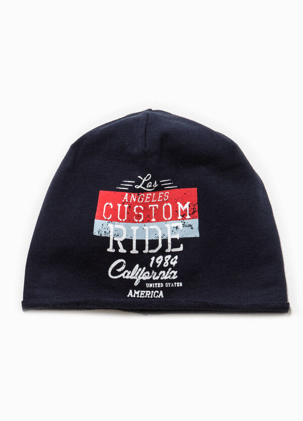 Beanie cap with printed lettering | OVS