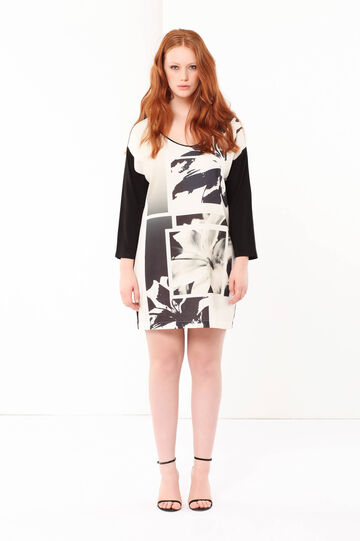 Curvyglam dress with a print, White/Black, hi-res