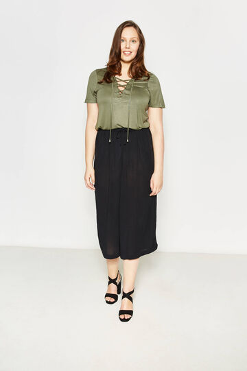 Curvy crop trousers with drawstring