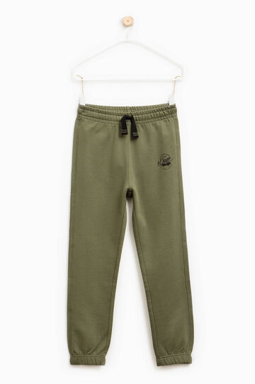 Cotton joggers with drawstring, Olive Green, hi-res
