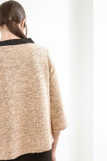 Cotton lurex blend pullover, Camel, hi-res