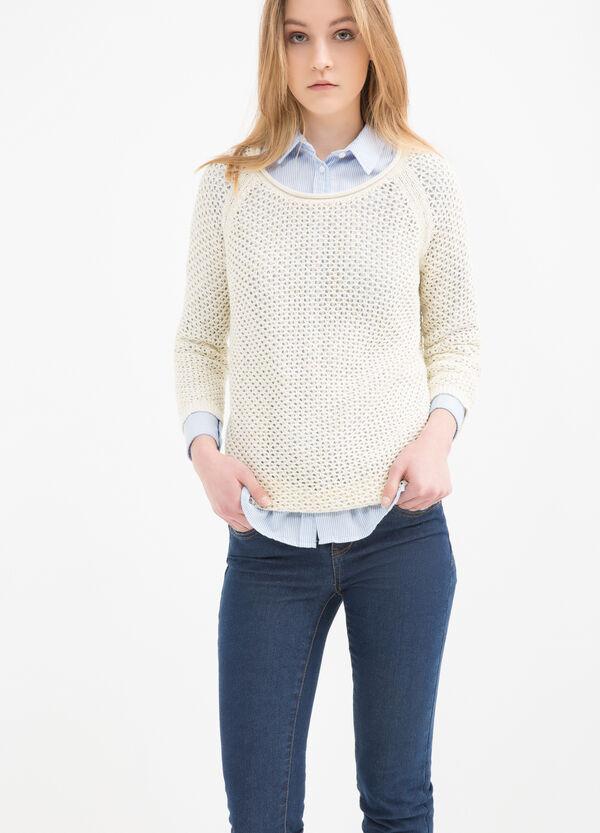 100% cotton pullover with openwork design | OVS