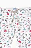 Set due pantaloni pigiama stampati, Nero, hi-res