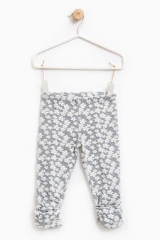 Stretch floral trousers, Dark Grey, hi-res