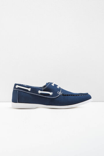 Moccasins with contrasting laces, Blue, hi-res