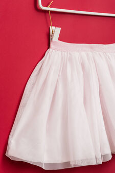 Skirt lined in tulle, Pink, hi-res