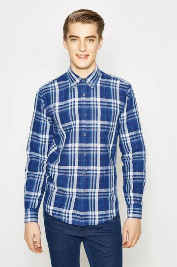 Casual tartan linen shirt
