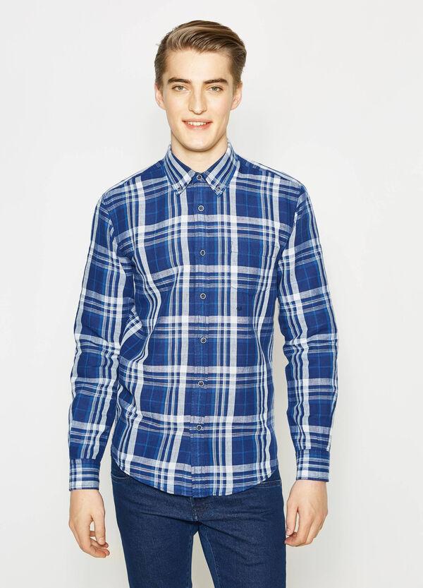 Casual tartan linen shirt | OVS