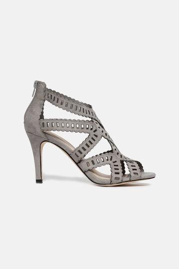 Sandals with stiletto heel, Grey, hi-res