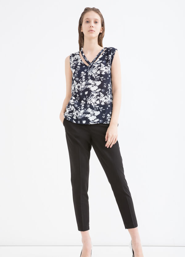 Patterned sleeveless blouse | OVS