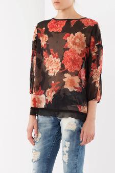 Fantasy blouse, Black/Red, hi-res