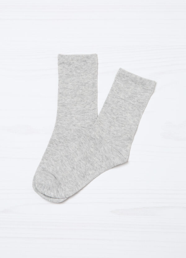 Five-pair pack solid colour socks. | OVS