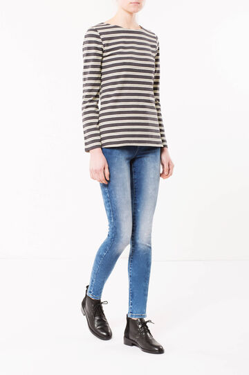 Faded skinny fit jeans, Dark Wash, hi-res