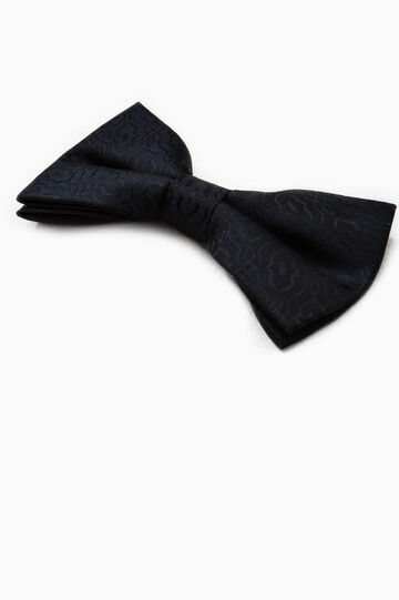 Damask pattern bow tie, Blue, hi-res