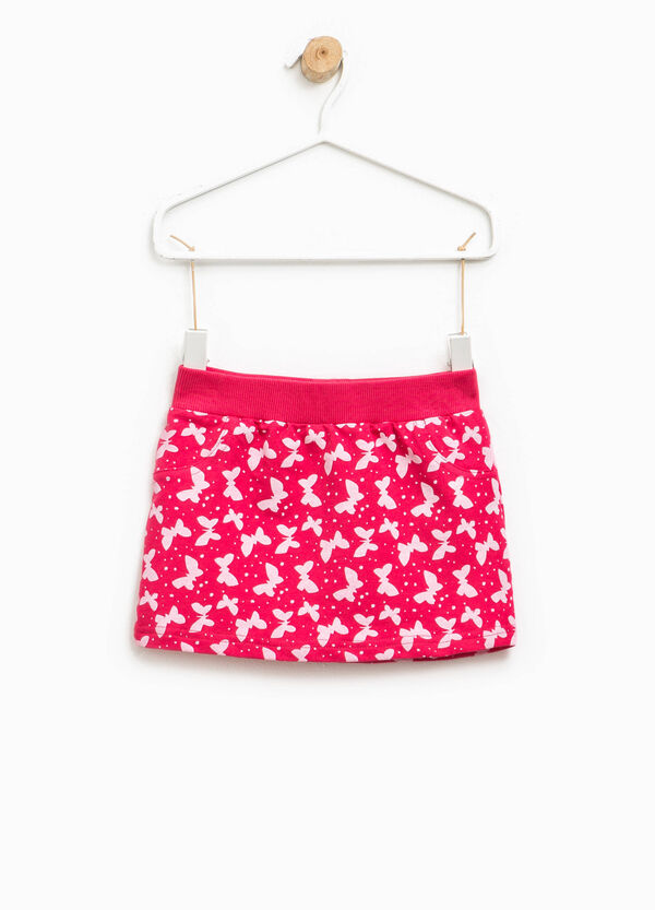 Patterned skirt in stretch cotton | OVS