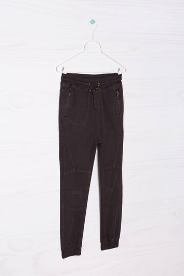 Pantaloni cotone stretch coulisse