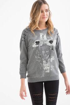 Sweatshirt with Teen print, Grey, hi-res