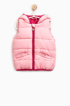 Padded waistcoat with zip, Pink, hi-res