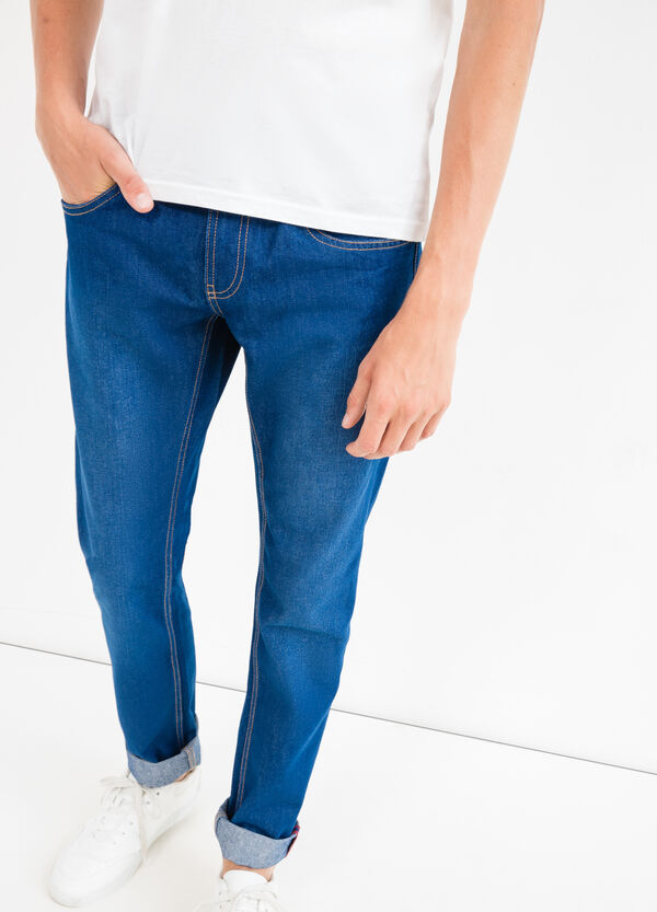 Slim-fit jeans with turned-up ankles | OVS