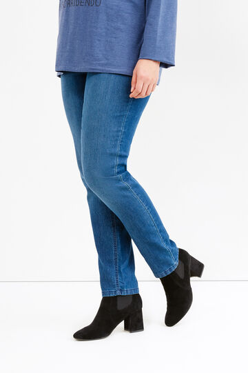 Jeggings tinta unita Curvy, Blu scuro, hi-res