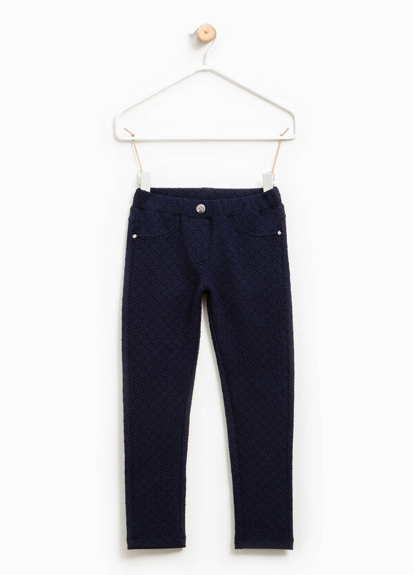 Cotton trousers with raised weave | OVS