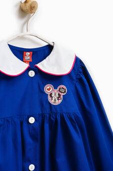 Cotton apron with Minnie Mouse patch, Royal Blue, hi-res