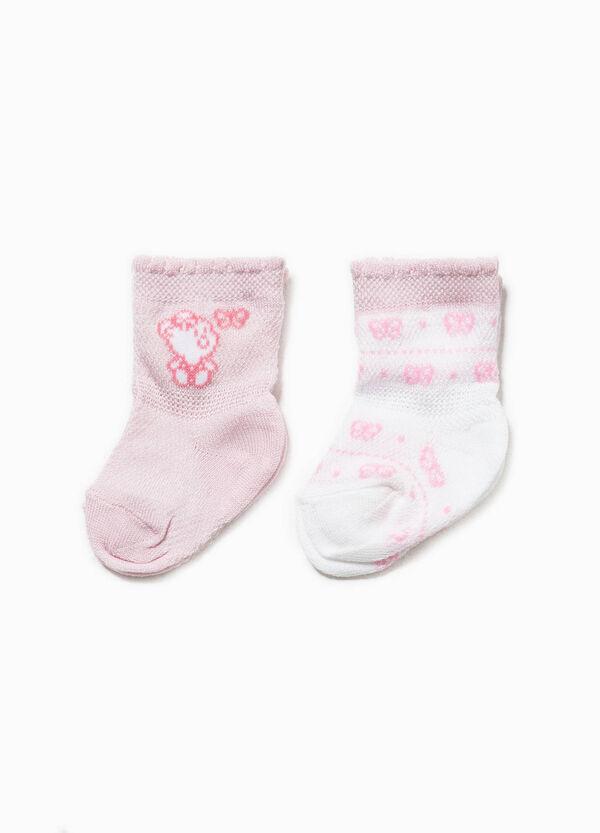 Set due paia di calze corte con ricamo | OVS
