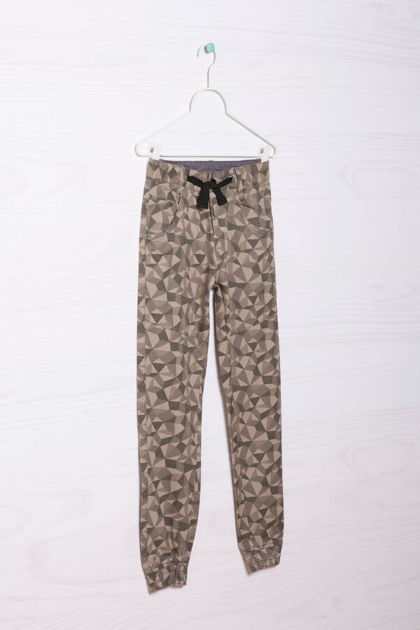 Patterned jeans with drawstring | OVS