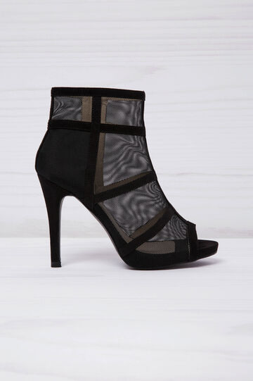 Open-toe ankle boots, Black, hi-res