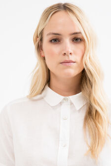Curvy 100% viscose shirt, White, hi-res