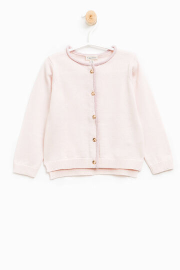 100% cotton knitted pullover, Pink, hi-res