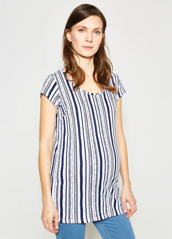 Striped MUM T-shirt in 100% cotton | OVS