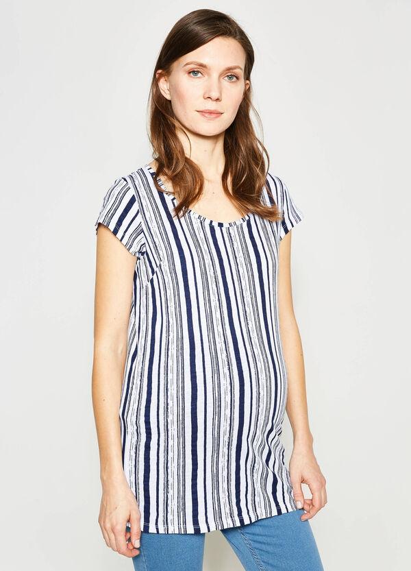 T-shirt in puro cotone a righe MUM | OVS