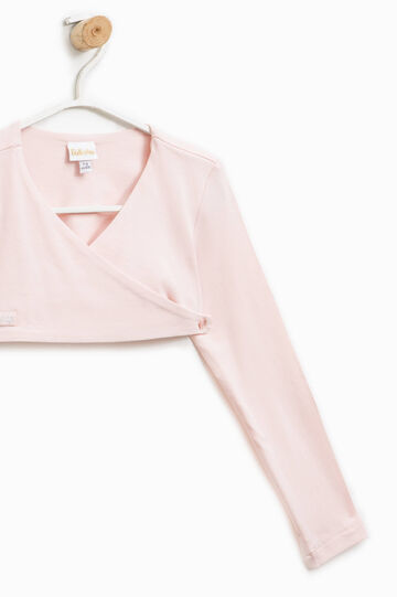 Shrug with criss-cross fastening, Pink, hi-res