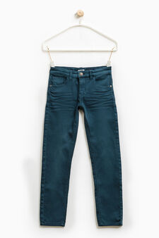 Jeans stretch effetto used, Blu avio, hi-res