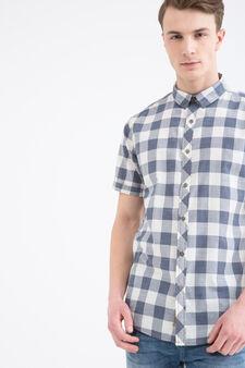 Camicia a quadri puro cotone G&H, Bianco/Blu, hi-res