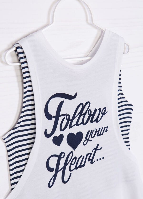 Top and vest set with print | OVS