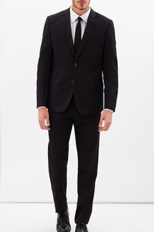 Elegant suit with slim fit, Grey, hi-res