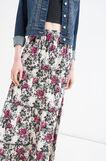 Long skirt with floral print, Multicolour, hi-res