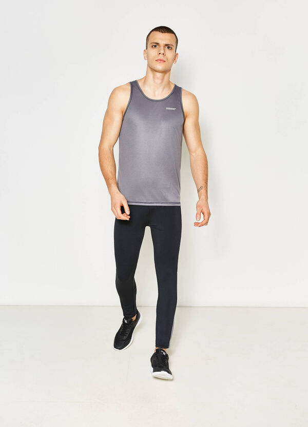 Vest top with contrasting stitching | OVS
